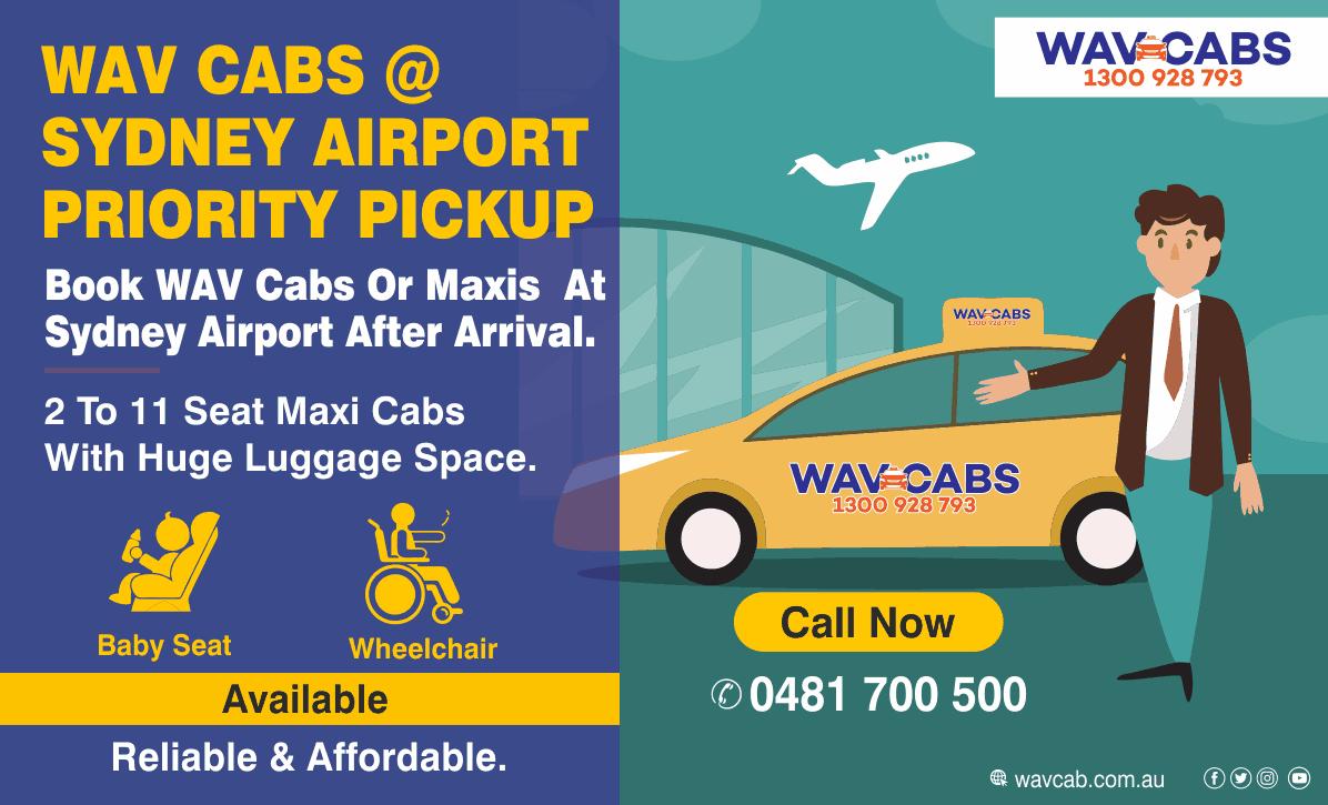 Sydney Airport Priority Pickup-Wav Cabs