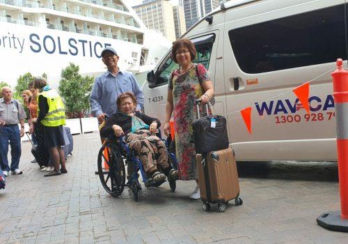 taxi to cruise terminal sydney